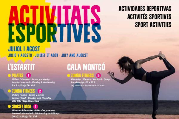 Nueva agenda de actividades deportivas para los meses de julio y agosto – Julio 2019